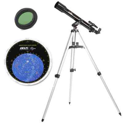 Teleskop BK 707 AZ2 + obrotowa mapa nieba + filtr księżycowy