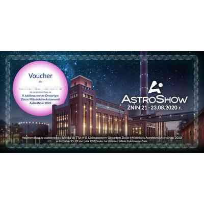 Pomysł na prezent - Voucher na udział w AstroShow - Dziecko do lat 7