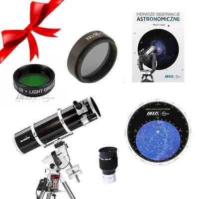 Teleskop BKP 2001 EQ5 Go-To + Obrotowa mapa nieba DO + Okular SWA-58 6mm 1,25 + Filtry + Pierwsze Obserwacje Astronomiczne