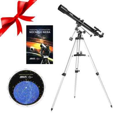 Teleskop BK 709 EQ1 + Obrotowa mapa nieba DO + Poradnik Obserwatora Nocnego Nieba