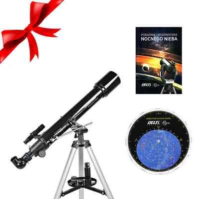 Teleskop PowerSeeker 70 AZ + Obrotowa mapa nieba DO + Poradnik Obserwatora Nocnego Nieba