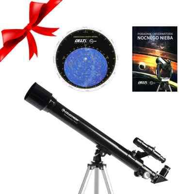 Teleskop PowerSeeker 50 AZ + Obrotowa mapa nieba DO + Poradnik Obserwatora Nocnego Nieba