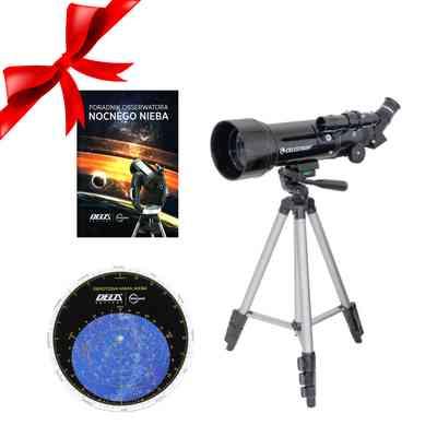 Teleskop Travel Scope 70 mm + Obrotowa mapa nieba DO + Poradnik Obserwatora Nocnego Nieba