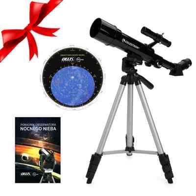 Teleskop Travel Scope 50 mm + Obrotowa mapa nieba DO + Poradnik Obserwatora Nocnego Nieba