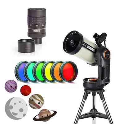Teleskop Celestron NexStar Evolution 8 HD StarSense + okular Hyperion Zoom Mark IV 8-24 mm + filtry