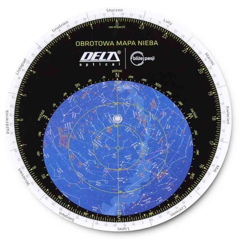 Obrotowa mapa nieba DO