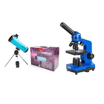 Teleskop Acuter Newton 50mm (niebieski) + Mikroskop DO BioLight 100 (niebieski)